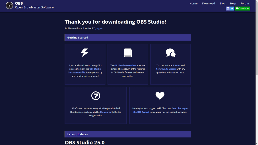OBS Studio Quickstart Guide