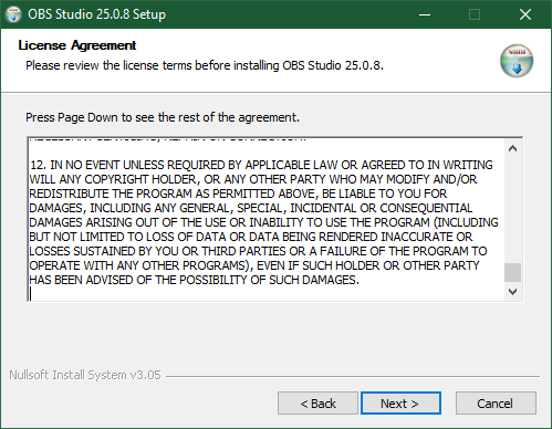 Review the License Agreement