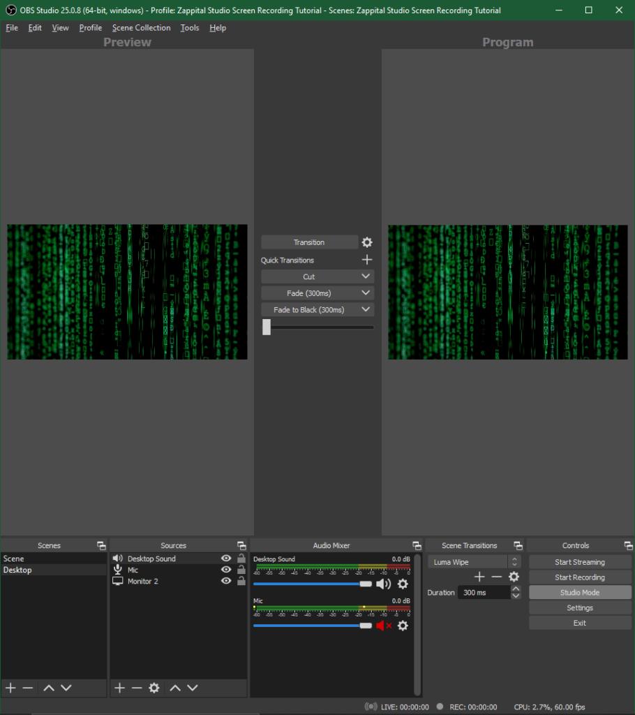 Studio Mode Preview