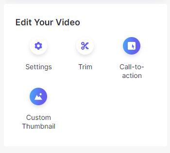 Loom Video Editing Options